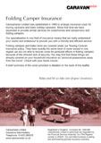 Trailer Tent Insurance Leaflet