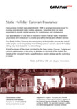 Static Caravan Insurance summary